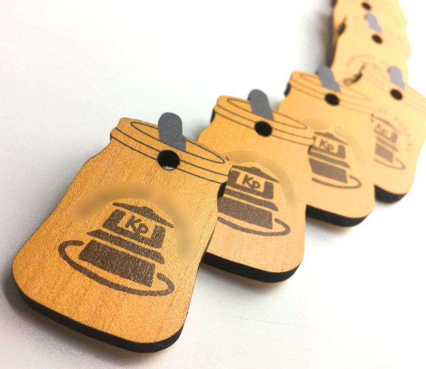 木製チャーム(カラー印刷)