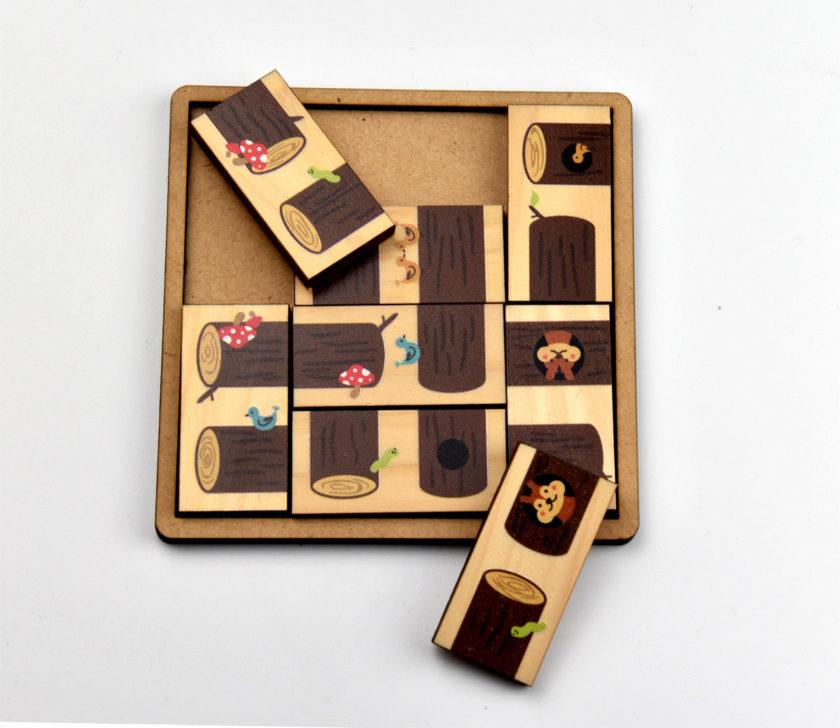 木製カラー印刷パズル
